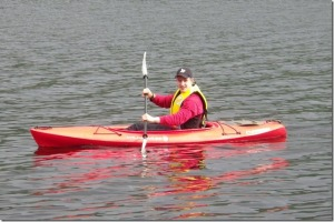Alex kayaking